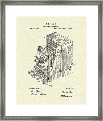 Blair Photographic Camera 1887 Patent Art Framed Print by Prior Art Design