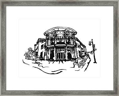 Blair Public Library In Fayetteville Ar Framed Print by Amanda  Sanford