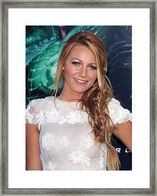 Blake Lively At Arrivals For Green Framed Print