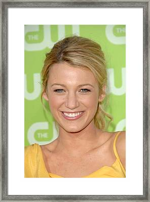 Blake Lively At Arrivals For The Cw Framed Print