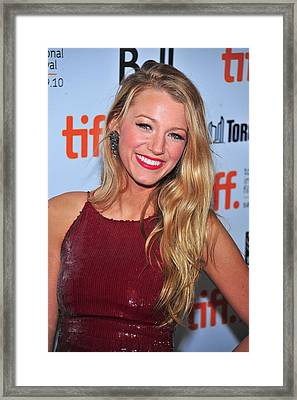 Blake Lively At Arrivals For The Town Framed Print