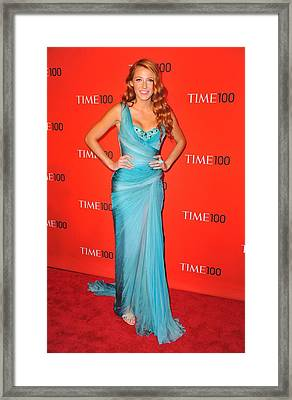 Blake Lively Wearing A Zuhair Murad Framed Print by Everett
