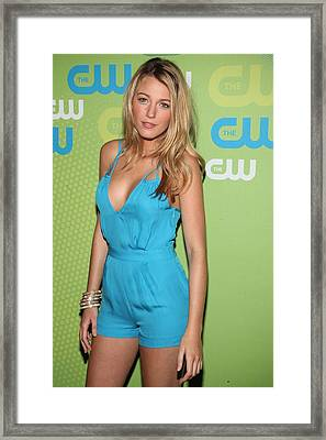 Blake Lively Wearing An Adam Romper Framed Print by Everett