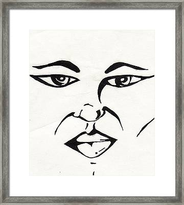 Blank Look Framed Print by Marc Chambers