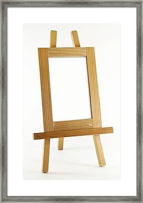 Blank Vertical Wood Frame Framed Print