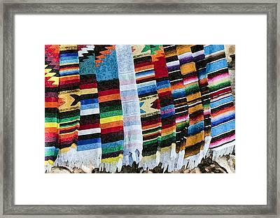 Blanket Weave Framed Print