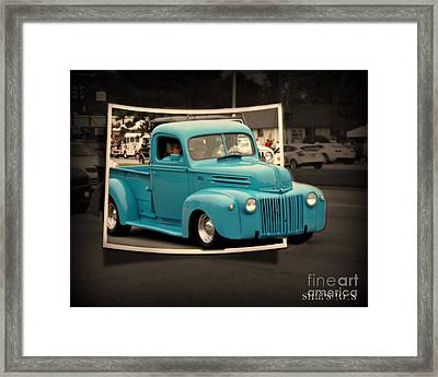 Blast From The Past Framed Print by Emily Kelley