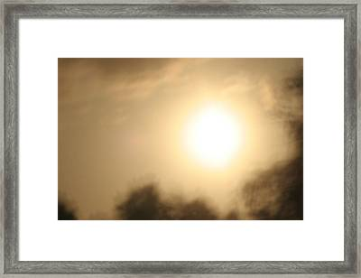Blazing Heat Framed Print by Artist Orange