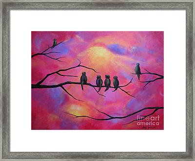 Blazing Ruby Sky Framed Print