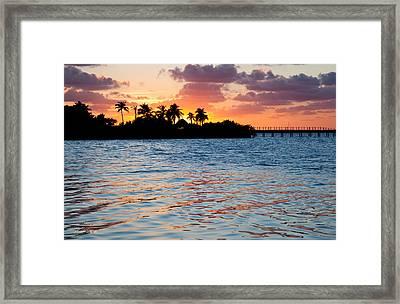 Blazing Skies In Islamorada Framed Print by Michelle Wiarda