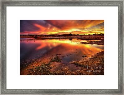 Blazing Sky Framed Print by Carlos Caetano