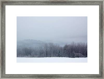 Framed Print featuring the photograph Bleak Mid-winter by Mary McAvoy