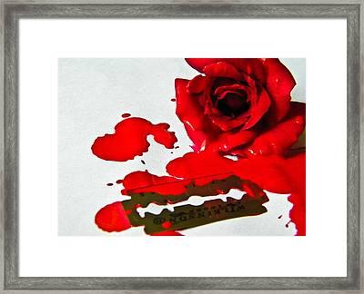 Bleed Framed Print by Prashant Ambastha