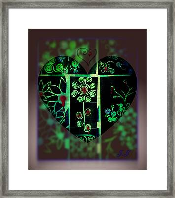 Bleeding Hearts Framed Print by Jan Steadman-Jackson