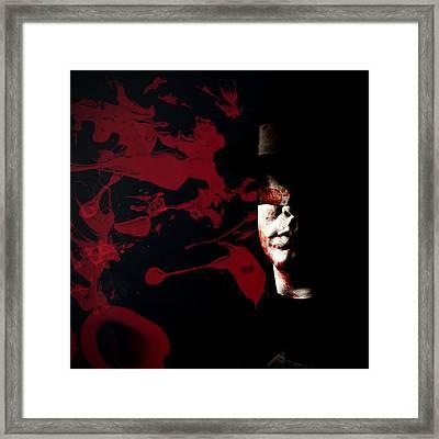 Bleeding Self Framed Print by Monte Arnold