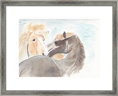 Blesi And Bear Framed Print by Debi Hamari