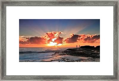 Blessed Fishermen Framed Print