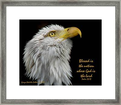 Blessed Is The Nation Framed Print by Grace Dillon