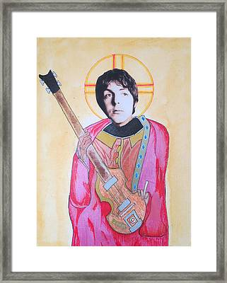 Blessed Paul Framed Print by Philip Atkinson