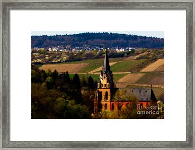 Blessed Vineyard Framed Print by Jill Smith