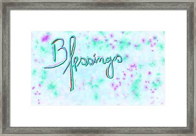 Blessings Framed Print by Rosana Ortiz