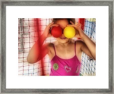 Framed Print featuring the digital art Blind by Beto Machado