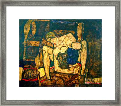Blind Mother By Egon Schiele Framed Print by Pg Reproductions