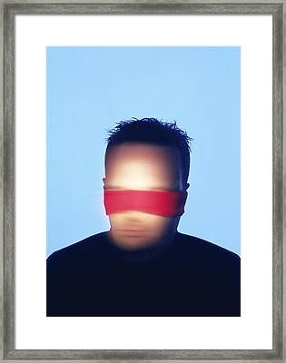Blindfolded Man Framed Print by Cristina Pedrazzini