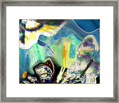 Bliss And Beyond Framed Print by Mathilde Vhargon