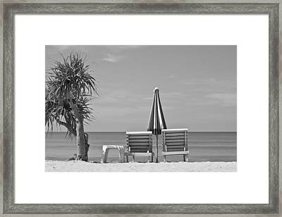 Bliss Is The Beach Framed Print by Georgia Fowler
