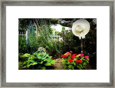 Blissful Garden Framed Print by Trudy Wilkerson