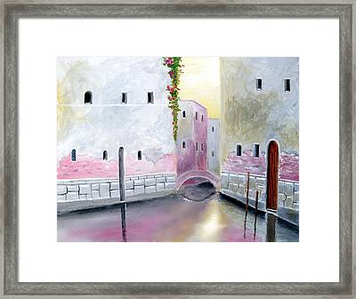 Blissful Reflections Of Venice Framed Print