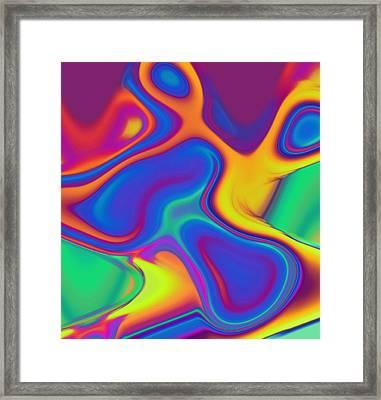 Blob Framed Print by Steve K