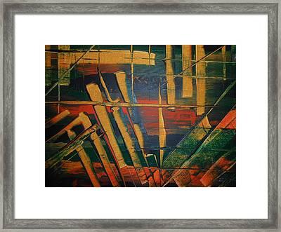Blocked-2 Framed Print by Lisa Williams