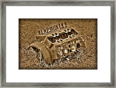 Blocked Out Framed Print