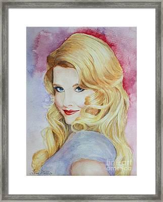 Blond Pinup  Framed Print by Terri Maddin-Miller