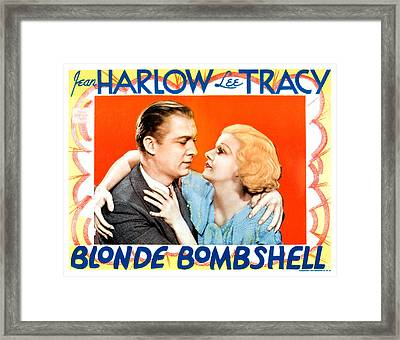 Blonde Bombshell, From Left Lee Tracy Framed Print by Everett