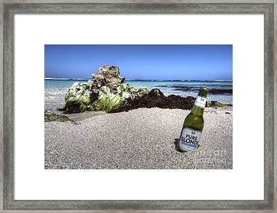 Blonde On The Beach  Framed Print