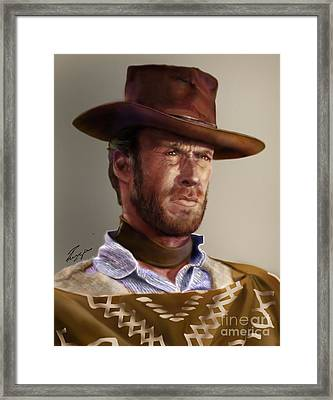 Blondie - Clint Eastwood Framed Print by Reggie Duffie