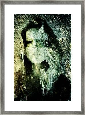 Framed Print featuring the digital art Blondie by Andrea Barbieri