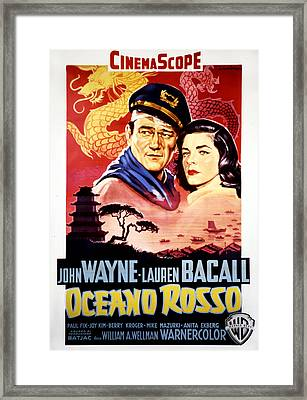 Blood Alley, John Wayne, Lauren Bacall Framed Print