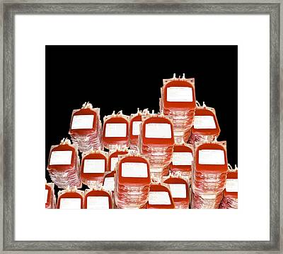 Blood Bags Framed Print by Victor Habbick Visions