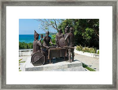 Blood Compact Monument Framed Print