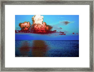 Blood Red Clouds Framed Print by Shannon Harrington