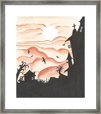 Blood Red Sky Framed Print by Anthony McCracken