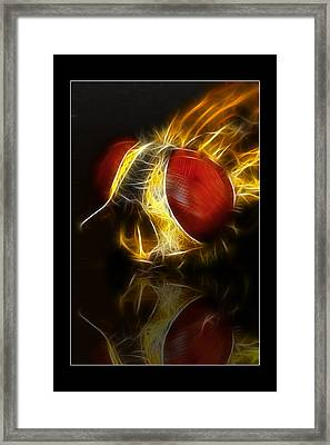 Framed Print featuring the digital art Blood Shot 02 by Kevin Chippindall