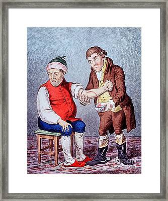 Bloodletting-1804 Framed Print by Science Source