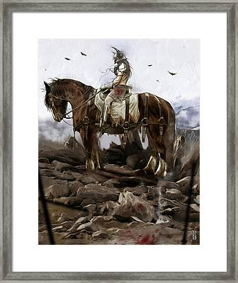 Bloody Girl Framed Print by Marco Turini