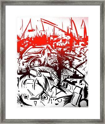 Bloody Junkyard Framed Print