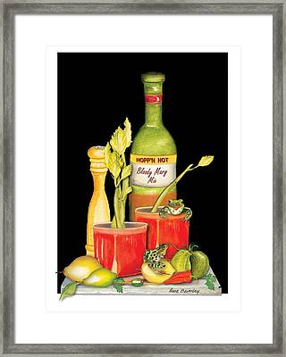 Framed Print featuring the painting Bloody Mary by Anne Beverley-Stamps